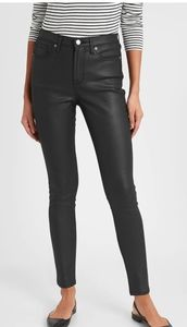 Banana Republic High-Rise Coated Skinny Pants